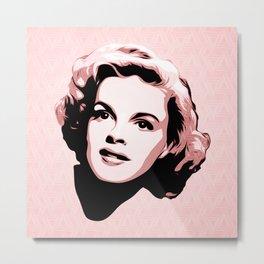 Judy Garland - Pop Art Metal Print