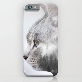 Double Exposure of a Cat iPhone Case