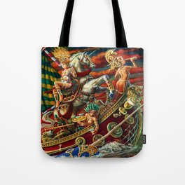 Party Boat to Atlantis Tote Bag