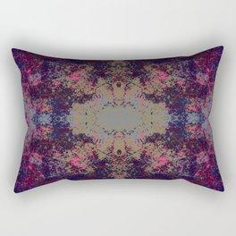 Esran - Abstract Boho Chic Tie-Dye Style Mandala Art Rectangular Pillow