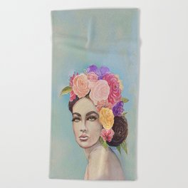 Flower Power by Andrea Beach Towel