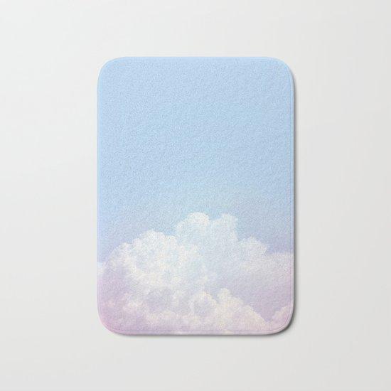 Dreamy Cotton Blue Sky Bath Mat