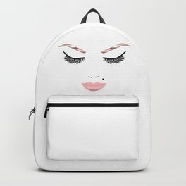 Rose Gold Beauty Face Backpack