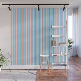 Blue Stripe Pattern Wall Mural