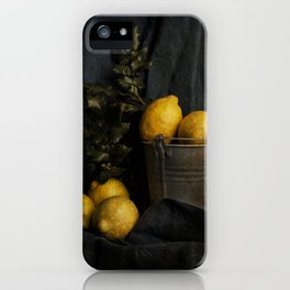 Cassic still life with lemons iPhone Case