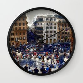 The Spanish Steps 4138 - Rome, Italy Wall Clock