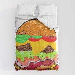 Burger time Comforters