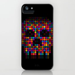 A Colorful Death by Qixel iPhone Case