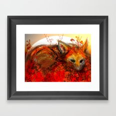 Fox in Sunset III Framed Art Print