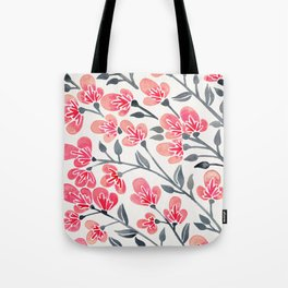 Cherry Blossoms – Pink & Black Palette Tote Bag