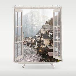 Austrian Village | OPEN WINDOW ART Shower Curtain