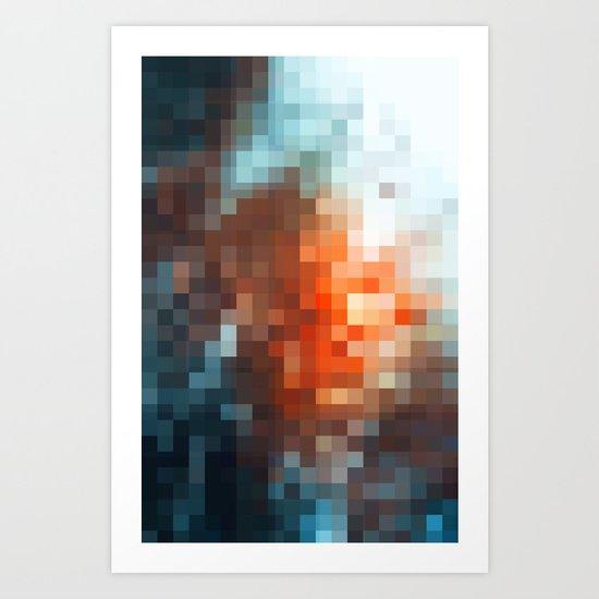 winter light - pixel pattern version - iphone Art Print