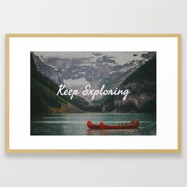 Keep Exploring with Canoes Framed Art Print
