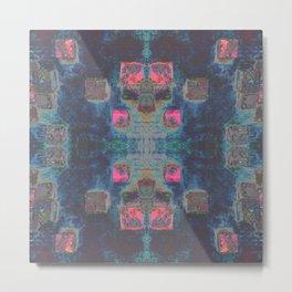 Toppled Ceramic Tiling Infared Style Metal Print