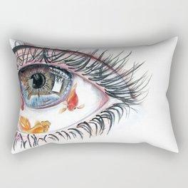Koi Fish in Eye Rectangular Pillow