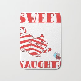 Sweet But Naughty Merry Christmas Happy New Year December 25 T-shirt Design Xmas Holidays Season Bath Mat