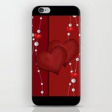 The loving hearts . Wedding. iPhone & iPod Skin