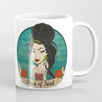 amy hamilton Mugs featuring Amy by AnaMF