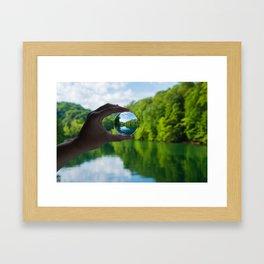Lensball Landscape, Dale Hollow Framed Art Print