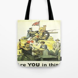 Vintage poster - Are YOU in this? Tote Bag