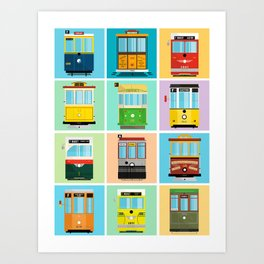 Streetcars of San Francisco Art Print