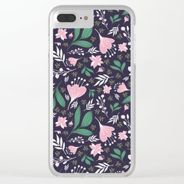 Spring Flowers Style D Clear iPhone Case