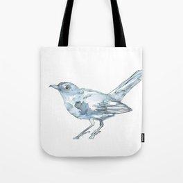 Nightingale Watercolor Sketch Tote Bag