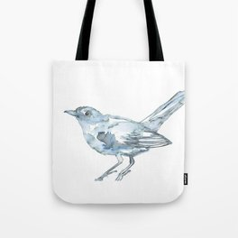 Nightingale Watercolor Sketch Tote Bag