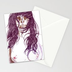 Give us a kiss (bw) Stationery Cards