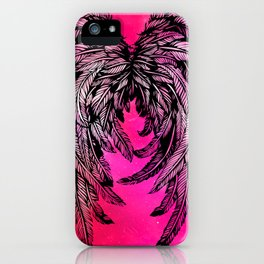 Pink Galaxy Angel Wings iPhone Case