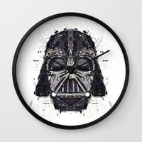 darth Wall Clocks featuring darth vader by yoaz