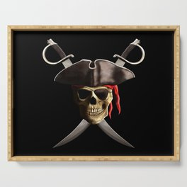 Pirate Skull And Swords Serving Tray
