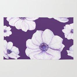 Anemones 2 Purple #society6 #buyart Rug