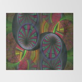 Tunneling Abstract Fractal Throw Blanket