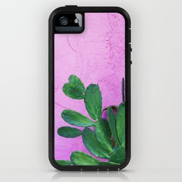 Cactus on Pink Wall iPhone Case