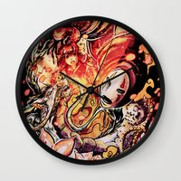 spirited away Wall Clocks featuring Spirited Away by Iris-sempi