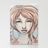 art nouveau Stationery Cards featuring art nouveau by McLean - Art & Design