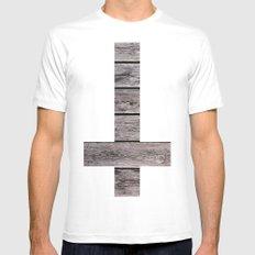 cross MEDIUM Mens Fitted Tee White