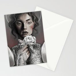 Silver Armor Stationery Cards