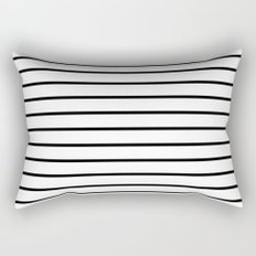 Thin Black Stripe Pattern Rectangular Pillow