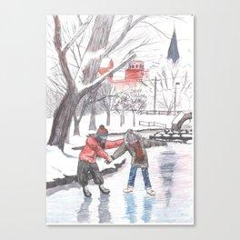winter in baker park Canvas Print