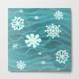 Calming Snow Metal Print