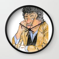 vonnegut Wall Clocks featuring Vonnegut by McHank