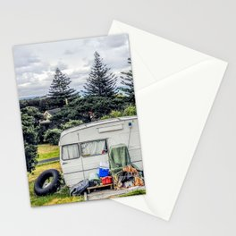 abonded camper in new zealand Stationery Cards