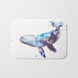 Watercolor Whale Bath Mat