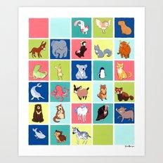 Alphabetathon: The Complete Animal Alphabet Art Print