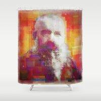 monet Shower Curtains featuring Claude Monet by Steve W Schwartz Art