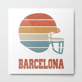 Barcelona  TShirt American Football Shirt Footballer Gift Idea  Metal Print