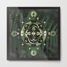 Mandala of Forests & Ferns Metal Print