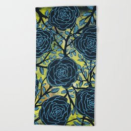 Black and Blue Beach Towel